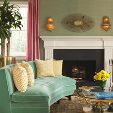 Transitional Living Room by Hillary Thomas Designs