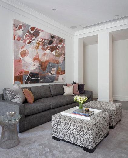 Contemporary Living Room by Massimo Interiors