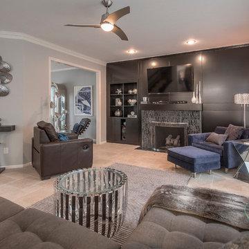 Modern Great Room by KGK Designs Kansas City