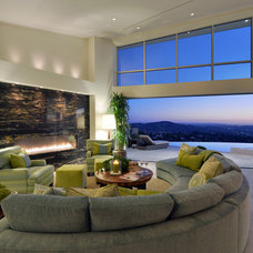 Contemporary Living Room by Kathy Ann Abell Interiors