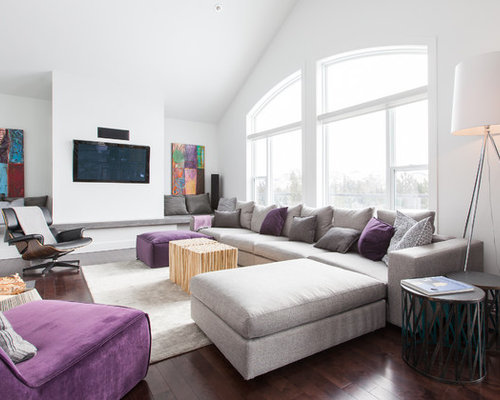 Grey And Purple Living Room purple grey | houzz