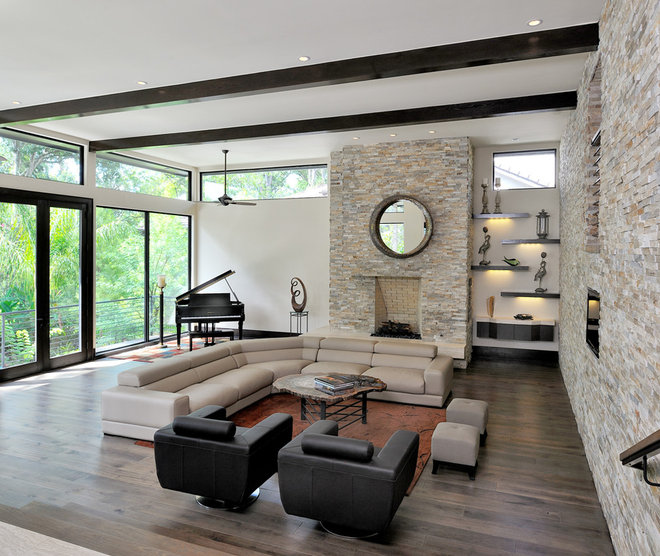 Contemporary Living Room by Coach Light Builders