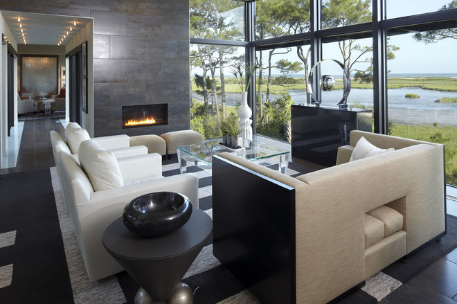 Modern Living Room by The Anderson Studio of Architecture & Design