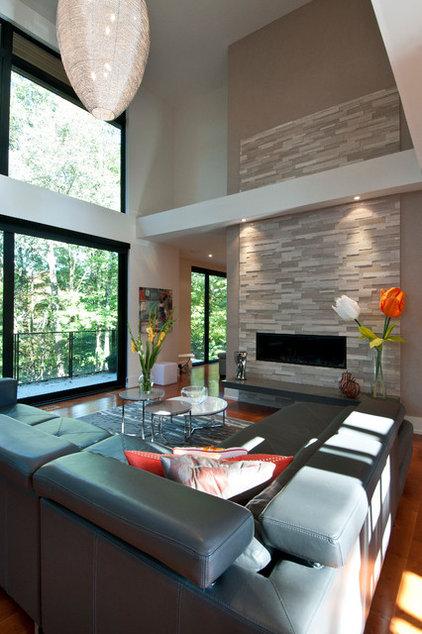 Contemporary Living Room by Black Tusk Development Group Ltd.