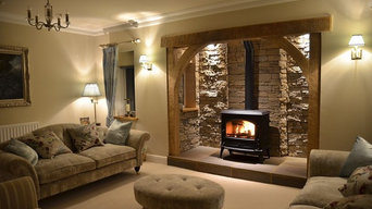 Modern Inglenook fireplace fitted by Burning Inspirations