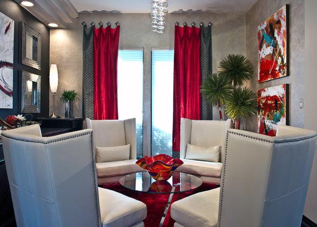 Moderno Soggiorno by The Design Firm