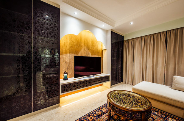 Mediterranean Living Room by Fatema Design Studio