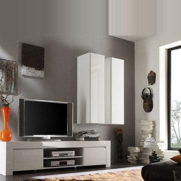 Modern Italian TV Stand Salina Small by LC Mobili - $489.00