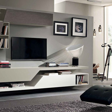 Modern Italian Wall Unit Exential T10 by SPAR
