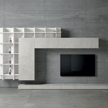 Modern Italian wardrobs, walk-in closets, libraries & wall units.