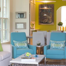 Contemporary Living Room by Margaret Donaldson Interiors