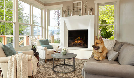 Houzz Call: Show Us Your Pet Lounging at Home by the Fire