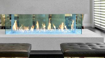 Modern Linear Fireplace-Western Fireplace Supply