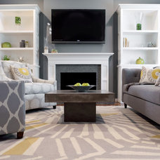 Contemporary Living Room by Found Design