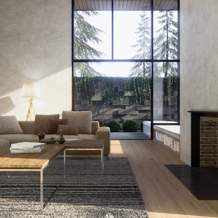 Modern Living Room 3D Rendering
