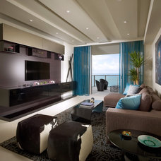 Modern Living Room by b+g design inc.