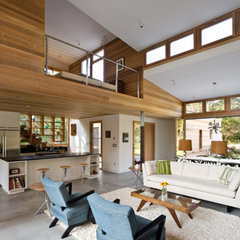 modern living room by John R Berg  AIA  LEED AP