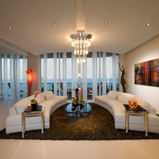 Modern Living Room by Britto Charette Interiors - Miami Florida