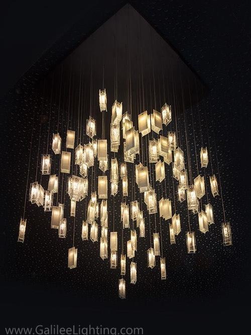 contemporary living room chandelier modern lighting two story great room - Contemporary Chandeliers For Living Room