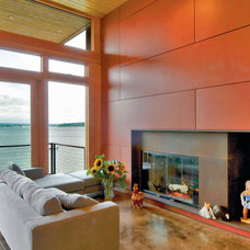 Modern Living Room by Coates Design Architects Seattle