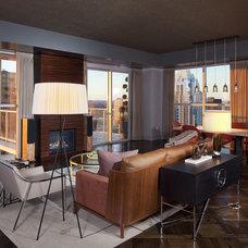 Modern Living Room by Cravotta Interiors