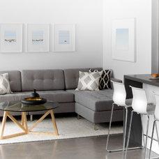 Modern Living Room by Croma Design Inc