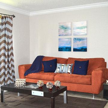 Modern Living Room Decor with Coastal Style