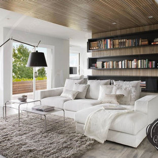 Modern Living Room Design with Artemide Tolomeo Mega Floor Lamp