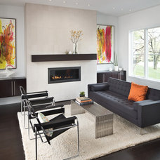 Contemporary Living Room by Adam Gibson Design