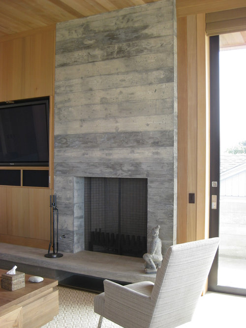 Poured Concrete Fireplace Home Design Ideas Pictures