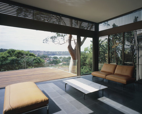 External privacy window screen houzz for Privacy window screen