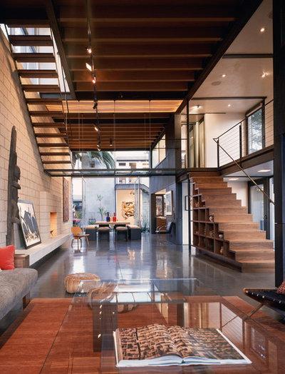 Industrial Living Room by Ehrlich Yanai Rhee Chaney Architects