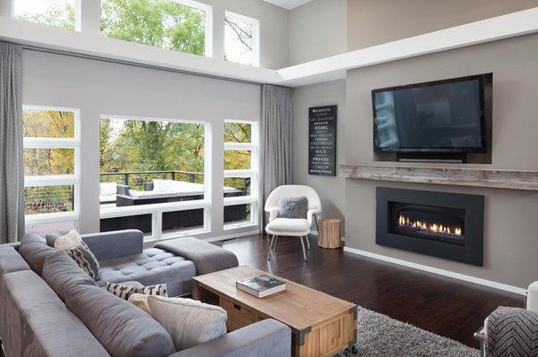 Contemporary Living Room by Jordan Powers