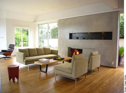 modern living room by INTERSTICE Architects Inc.