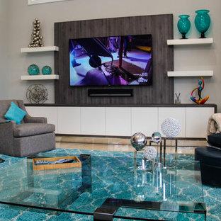 Imagen de salón minimalista de tamaño medio