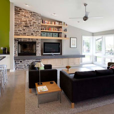 Modern Living Room by SKL Architecture, LLC