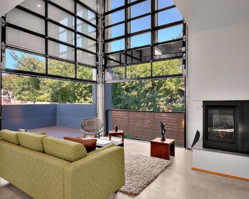 Craftsman style garage doors houzz for B q living room doors