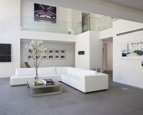 Modern Living Room Design Ideas, Renovations & Photos with Limestone ...