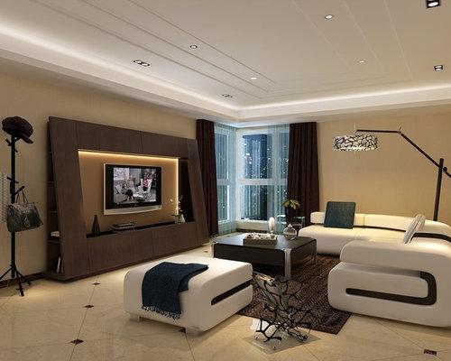 minimalist living room photo in toronto