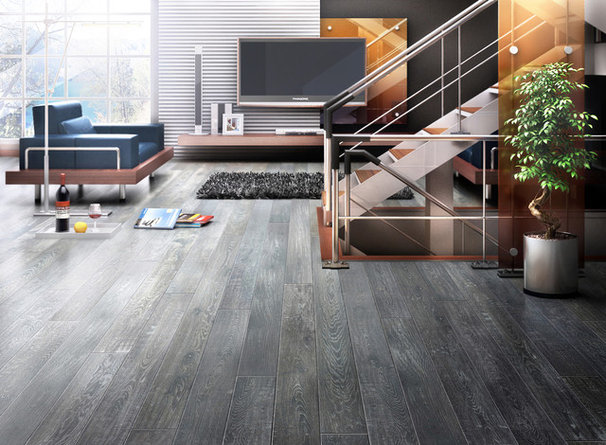 Modern Living Room by Unique Wood Floors