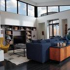 Fiberglass Bow Window Contemporary Living Room San