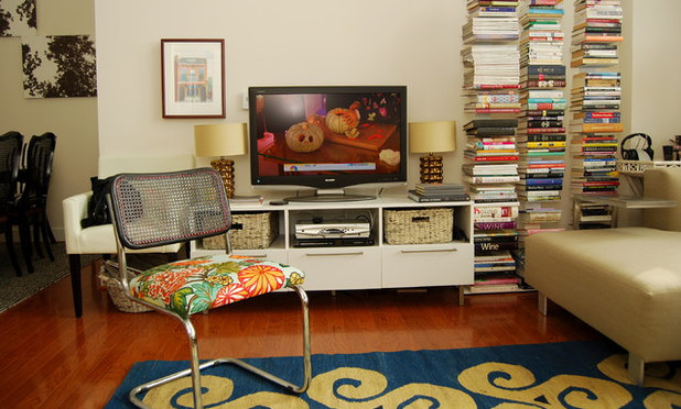 Eclectic Living Room by Nicole Lanteri Design