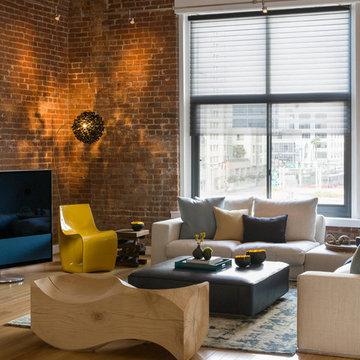 Modern Loft, Warehouse Living Room