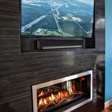 Modern Marble Fireplace