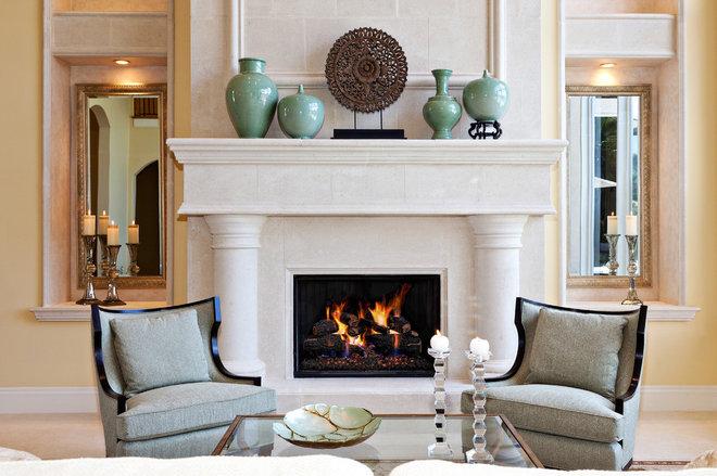 Mediterranean Living Room by JMA INTERIOR DESIGN