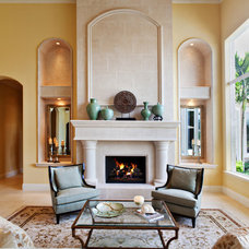 Mediterranean Living Room by JMA INTERIOR DECORATION