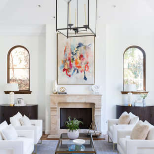 Modern Mediterranean Living Room- Santa Monica, California