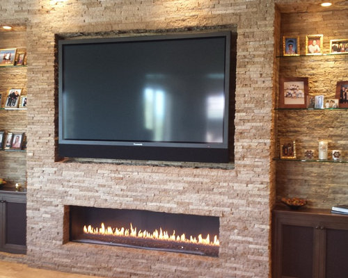 Linear fireplace home design ideas pictures remodel and for Linear fireplace ideas