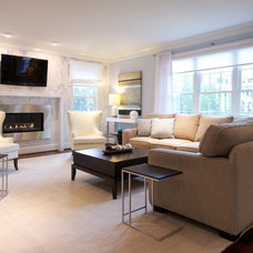 Modern Living Room by Olamar Interiors