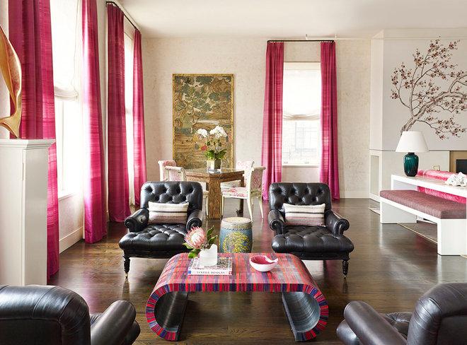 Contemporary Living Room by Scordio Construction.inc